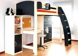 dresser with desk attached platform bed with desk two desks on raised platform with two beds