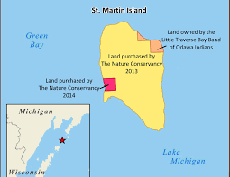 St Martin Map Great Lakes Islands Added To Green Bay National Wildlife Refuge