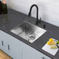 vigo vg02014mb graham pull down spray kitchen faucet in matte