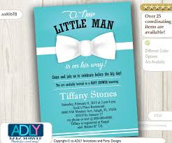 bow tie baby shower invitations blue white bow tie invitation for boy shower