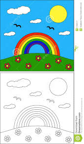 rainbow coloring page royalty free stock photography image
