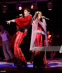 actors patrick boll and jennifer perry perform in the 4000th broadway picture id114983238