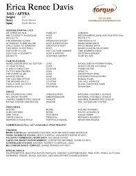 erica renee davis host resume bio torque host resume sles visualcv resume sles database