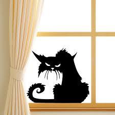 halloween scary cat glass sticker halloween decor at banggood