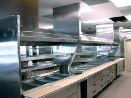 kitchen industrial kitchen for easy cleaning with best look