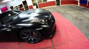 nissan gtr matte black gold rims nissan gtr satin black wrap with reflective tron lines 360 youtube