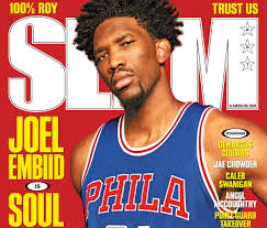 slam 207 cover sixers rookie joel embiid is soul on ice