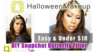 Butterfly Halloween Makeup by Halloween Makeup Snapchat Butterfly Filter Easy And Under 10