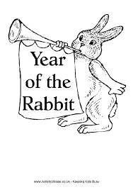 rabbit colouring 2