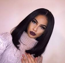 black hair weave part in the middle straight bob hair with middle part bob bobhair hairinspiration