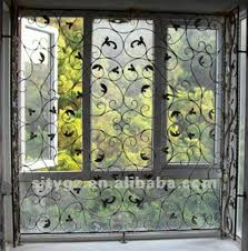 2013 Most Popular Sliding Window Grill Design Of Wrought Iron