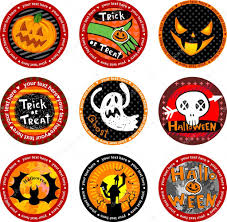 Halloween Banners by Halloween Banners Or Drink Coasters U2014 Stock Vector Azzzya 32871771