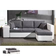 canapé d angle blanc et gris canapé d angle à droite convertible gris et pvc blanc palencia