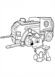 paw patrol rocky u0027s recycling truck coloring free printable
