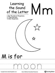 learning beginning letter sound m letter sounds printable