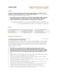 How To Write Summary Of Qualifications 10 Best Digital Marketing Cv Examples U0026 Templates