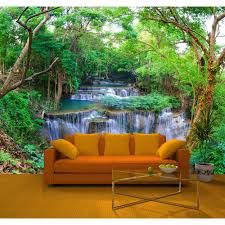 rainbow wall art wallcoverings i want wallpaper rainbow green spring forest nature waterfall photo mural wall decor r219