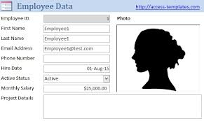 access database templates of hr software for small business tutorial