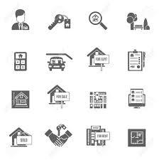 Immobilien Mieten Kaufen Immobilien Wohnung Kaufen Und Mieten Schwarzen Icons Set