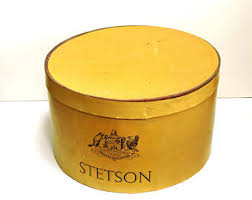 Vintage Western Home Decor Stetson Hat Box Etsy