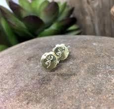 bullet stud earrings browning 22 caliber rifle brass bullet stud earrings