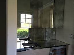 small kitchen decoration using modern mirrored kitchen cabinet