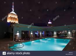 Pool At Night Pool At Night Hotel Contessa Downtown San Antonio Texas Stock