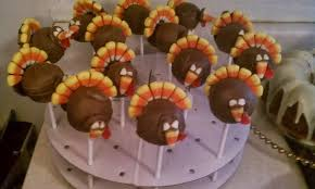 dawson co thanksgiving 2013 turkey cake pops