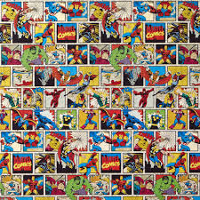 comic wrapping paper marvel roll wrap 2m at wilko