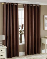 Chocolate Curtains Eyelet Chocolate Brown Faux Silk Lined Curtains With Eyelet Ring Top 66 X