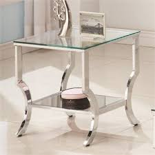 Powell Black Glass Top Side End Tables Cymax Stores