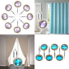 Dual Shower Curtain Hooks Crystal Shower Curtain Hooks Ebay