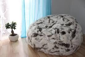 giant sheepskin bean bag chair cover designer colors ultimate bean