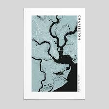 charleston south carolina city map print style 2 artefact maps