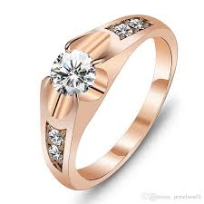 classic rings images 2018 wedding bands classic rings rose gold color polish rings for jpg