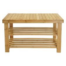 meubles en bambou todeco meuble à chaussures en bambou étagère en bambou à 3