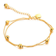 gold bracelet chain designs images Women 39 s brand new anklet bracelet gold color anklet fashion jpg