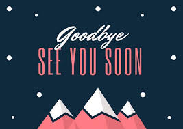blue mountains illustration farewell card templates by canva