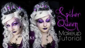 spider queen halloween makeup tutorial youtube
