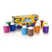 crayola washable kids u0027 paints classic colors 10 count 2 oz