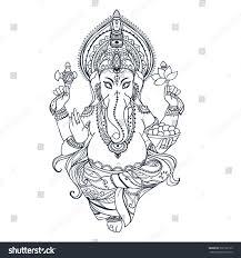 ornament beautiful card lord ganesha image stock vector 302166113