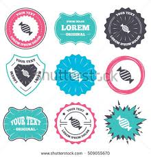 label badge templates candy icon sweet stock vector 509055670