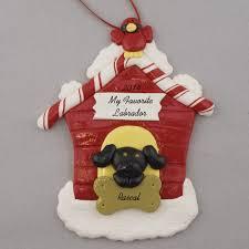 black lab in dog house personalized ornament calliope designs
