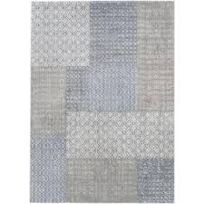 White Grey Rug Modern Plaid Area Rugs Allmodern
