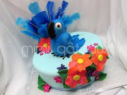 Tropical Theme Birthday Cake - blue macaw birthday cake image inspiration of cake and birthday