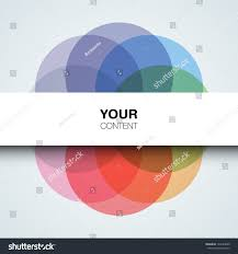 abstract colorful design vector cool circles stock vector