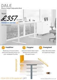 Height Adjustable Desks Uk by Sit Stand Working Dale Office Interiors
