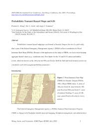 Map Of Florence Oregon by Probabilistic Tsunami Hazard Maps And Gis Pdf Download Available
