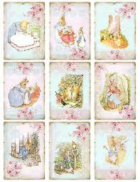rabbit by beatrix potter rabbit beatrix potter card toppers scrapbooking card