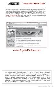 toyota camry hybrid 2008 xv40 8 g quick reference guide